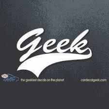 Geek Athletic Car Window Decal Sticker