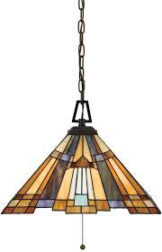 inglenook art deco style 3 lamp tiffany