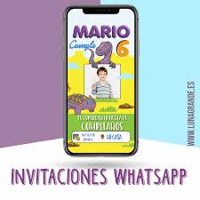 Invitacion Digital Cumpleanos Dinosaurios Luna Grande Photocall