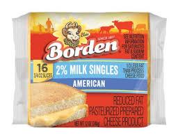 milk singles american cheese nutrition