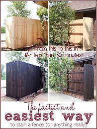 The Fastest And Easiest Way To Stain A Wood Fence Ask Anna