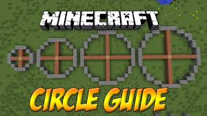 Minecraft Circle Guide Templates Youtube
