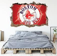Boston Red Sox Wall Art Decal Mlb Baseball Team 3d Smashed Wall Decor Wl92 Ebay