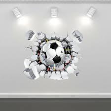 Football Soccer Wall Art Sticker Mural Decal Boys Bedroom Transfer Wall Wsd77 Ebay