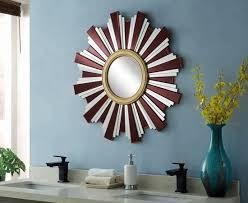 wall mirror with decorative border