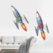 Zoomie Kids Space Rockets Wall Decal Wayfair