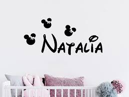 Personalized Minnie Mouse Wall Decor Kids Room Nursery Decals Bedroom Decoration Custom Girls Name Wall Sticker Buy At The Price Of 3 74 In Aliexpress Com Imall Com