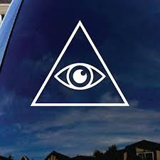 Amazon Com Socooldesign Illuminati Eye Car Window Vinyl Decal Sticker 4 Wide White Everything Else