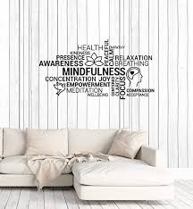 Amazon Com Wallstickers4ever Vinyl Wall Decal Mindfulness Meditation Yoga Zen Relaxation Stickers Mural Large Decor Ig6156 Black Home Kitchen