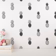 Unique Pineapple Decal Modern Vinyl Wall Sticker For Kids Room Decor Ebay