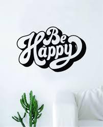 Be Happy Wall Decal Sticker Vinyl Art Bedroom Living Room Decor Decora Boop Decals