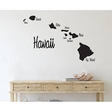 Ebern Designs Hawaii Hawaiian Islands Map Vinyl Wall Decal Wayfair