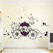 Wall Decal Princess Cinderella With Carriage Mice And Stars M1188 Wall Decals Bumper Sticker Murals Bags Cups Backpacks And Many More At Www Deinewandkunst Com