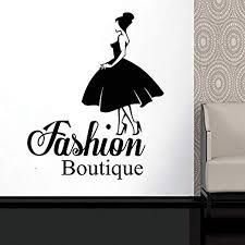 Amazon Com Elegantdecal Wall Decal Window Sticker Beauty Salon Woman Face Fashion Style Clothing Boutique Dress Black Dress Model Hat 2959 Home Kitchen