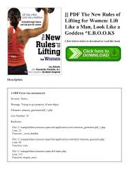 pdf the new rules of lifting for women