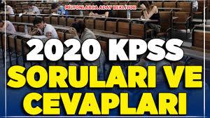 2020 KPSS Lisans Soruları ve Cevapları ! ÖSYM Duyurusu