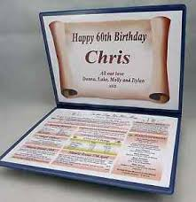 unusual 60th birthday gift the year