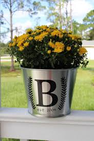 Monogram Bucket Milk Can Decal Pot Decal Decal For Planter Etsy Fall Flower Pots Decorative Leaves Milk Cans