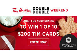 win a tim hortons 200 gift card