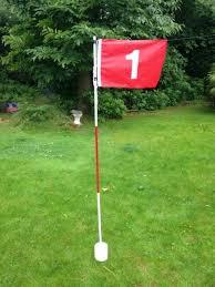 golf backyard practice garden set flag