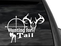 Fgd Deer Hunting Window Decal 12 X7 Hunting For Tail Dw11 Family Graphix Llc