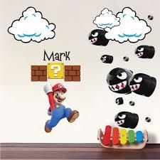 Mario Bullet Wall Decals Mario Nintendo Bullet Decals Super Mario Wall Decal Sticker Video Game Bedroom Designs Video Game Bedroom Wall Decals Kids Room Decals