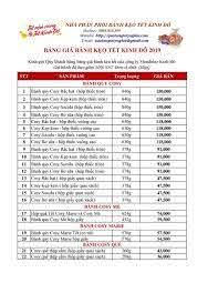 Bảng giá bánh kẹo Tết Kinh Đô 2019 by TRâm Nguyễn - Flipsnack trong 2020