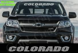 Windshield Banner Decal Sticker For Chevrolet Colorado 36 Ebay