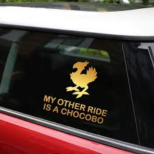 14 1cm 12 7cm My Other Ride Is A Chocobo Car Styling Car Sticker Vinyl Stickers And Decals Car Bumper Decals Motorcycle Sticker Wish