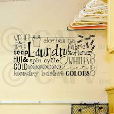Laundry Room Collage Wall Saying Vinyl Lettering Decal Sticker 12 5 H X 24 W Black Walmart Com Walmart Com