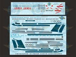 1 72 Scale Decal Bea British Airways Bac111 500 With Lifelike Cocipit Windows