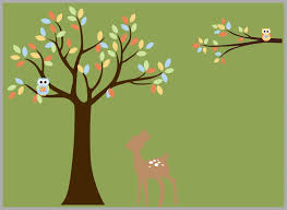 Deer Wall Decal Forest Wall Decal Woodland Wall Decal Deer Nurserydecals4you