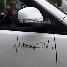Fashion Car Truck Sticker Jesus Heartbeat Monitor Car Decal Stickers For Car Tailgate Wish