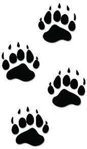 Black Bear Paws Print Tracks Hunting Vinyl Decal Sticker For Vehicle Car Truck Window Bumper Wall Decor 6 Inch Bear Paw Print Bear Paw Tattoos Bear Stencil