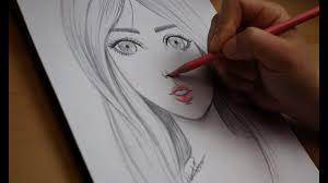 تعليم الرسم تعلم رسم الوجه بالرصاص للمبتدئين مع خطوات بسيطة