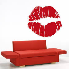 Shop Full Color Red Lips Modern Art Full Color Wall Decal Sticker Sticker Decal 33 X 33 Overstock 15218601