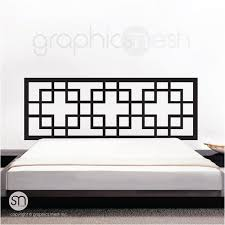 Overlapping Squares Headboard Wall Decal Art Interior Decor Etsy Headboard Decal Headboard Wall Headboard Wall Decal
