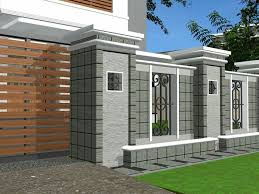Security Wall Front Wall Design Modern Fence Design Fence Design