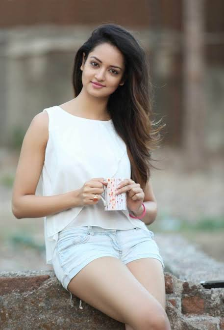 shanvi srivastav in white