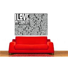 Wrought Studio Espinoza Usa Flag I Love My Country Vinyl Words Wall Decal Wayfair