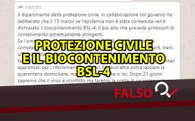 La bufala Whatsapp sulla Protezione Civile e il «biocontenimento ...