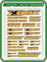Xray T4 Sticker Sheet 1 10 Rc Electric Car Bnip A4 Size Touring Car Drift Yellow