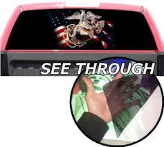 Amazon Com P35 U S Marines Tint Rear Window Decal Wrap Graphic Perforated See Through Universal Size 65 X 17 Fits Pickup Trucks F150 F250 Silverado Sierra Ram Tundra Ranger Colorado Tacoma 1500 2500