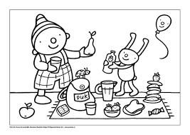 Kleurplaat Picknicken Thema Peuter Thema Eten En Drinken