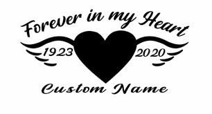 In Loving Memory W Pink Ribbon Wings Personalized Vinyl Decal 6 H For Sale Online Ebay