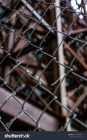 Chain Link Fence Front Steel Building Buildings Landmarks Stock Image 1496844482