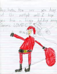 Santa Letters from Gentry students