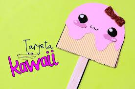 Invitacion Kawaii Para Aniversario Kawaii Manualidades