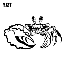 Yjzt 18 10 3cm Crab Decals Unique Vinyl Car Sticker Car Styling Black Silver S8 1633 Car Sticker Vinyl Car Stickersvinyl Car Aliexpress