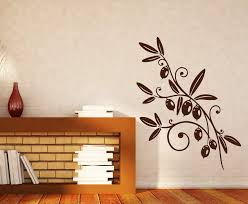 Vinyl Decal Olive Branch Mature Fruit Foliage Wall Sticker Unique Gift Wallstickers4you